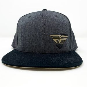 Fly Racing | Mens Flat Brim Snap Back Hat Gray OS